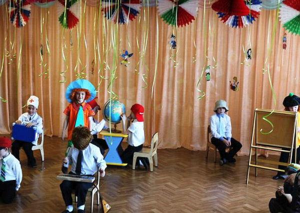 день знаний в детском саду старшая группа